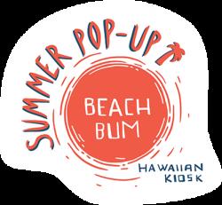 beach bum pop up logo